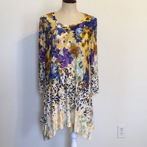 LOGO by Lori Goldstein Knit Tunic W/ ContrastPrint